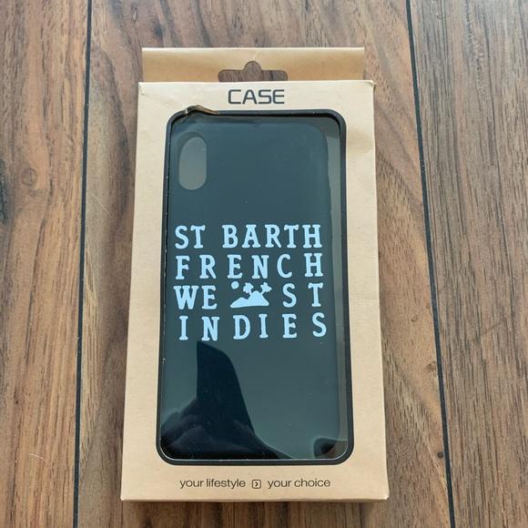 Iphone X St Barth Black Phone Case